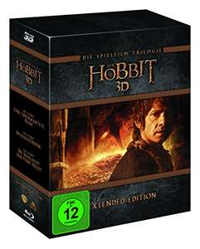 [Amazon Prime] Der Hobbit Trilogie - Extended Edition Blu-ray 3D + Blu-ray + UV Copy, 15 Discs für 26,97€