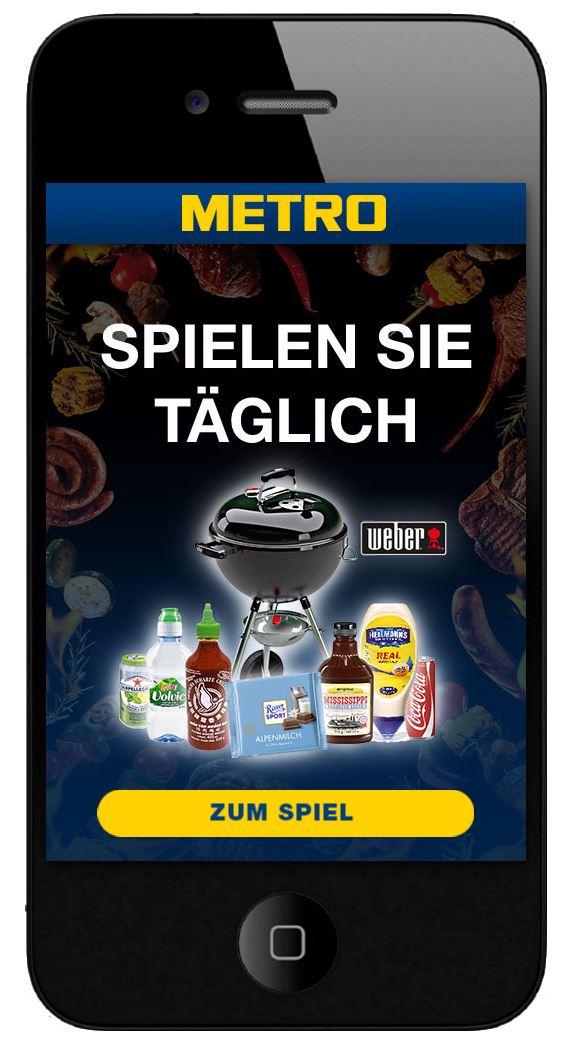 Metro Gewinnspiel - Jeden Tag ein Gewinn möglich (ähnlich wie Galeria Kaufhof Monopoly)