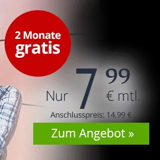 winSIM LTE All 2 GB (7,99 € / Monat) jetzt mit 2 Gratismonaten (24M Lfz.)