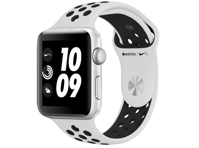 Apple Watch Series 3 Nike+ (GPS) Aluminium 42mm silber mit Sportarmband platinumgrau/schwarz (MQL32ZD/A) [Alternate]