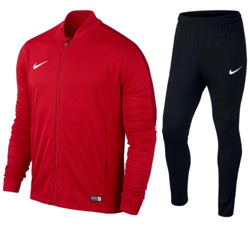 Nike Herren Academy 16 Knit Tracksuit Trainingsanzug Schwarz/Rot Größe L [Amazon]