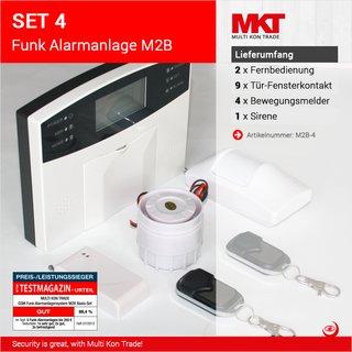 Set 4: M2B GSM Funk Alarmanlagensystem mit LCD Display