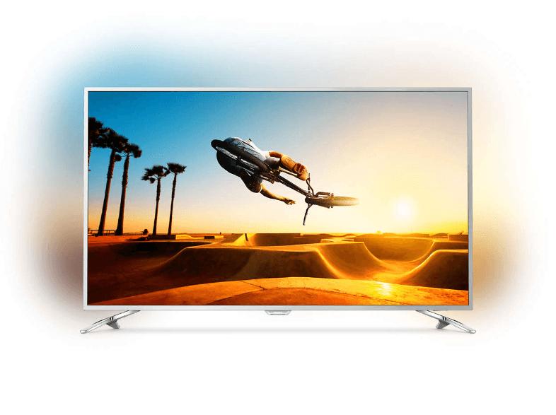 Philips 55PUS7272 TV (55'' UHD Direct-LED Dimming HDR10 HLG, 2000ppi [100Hz nativ], 3seitiges Ambilight, Triple Tuner, 4x HDMI, VESA) für 813€ versandkostenfrei [Saturn]