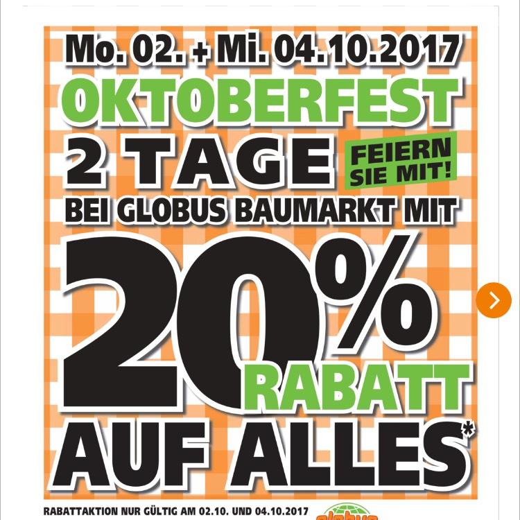 - offiziell- Globus Baumarkt Göttingen 20%
