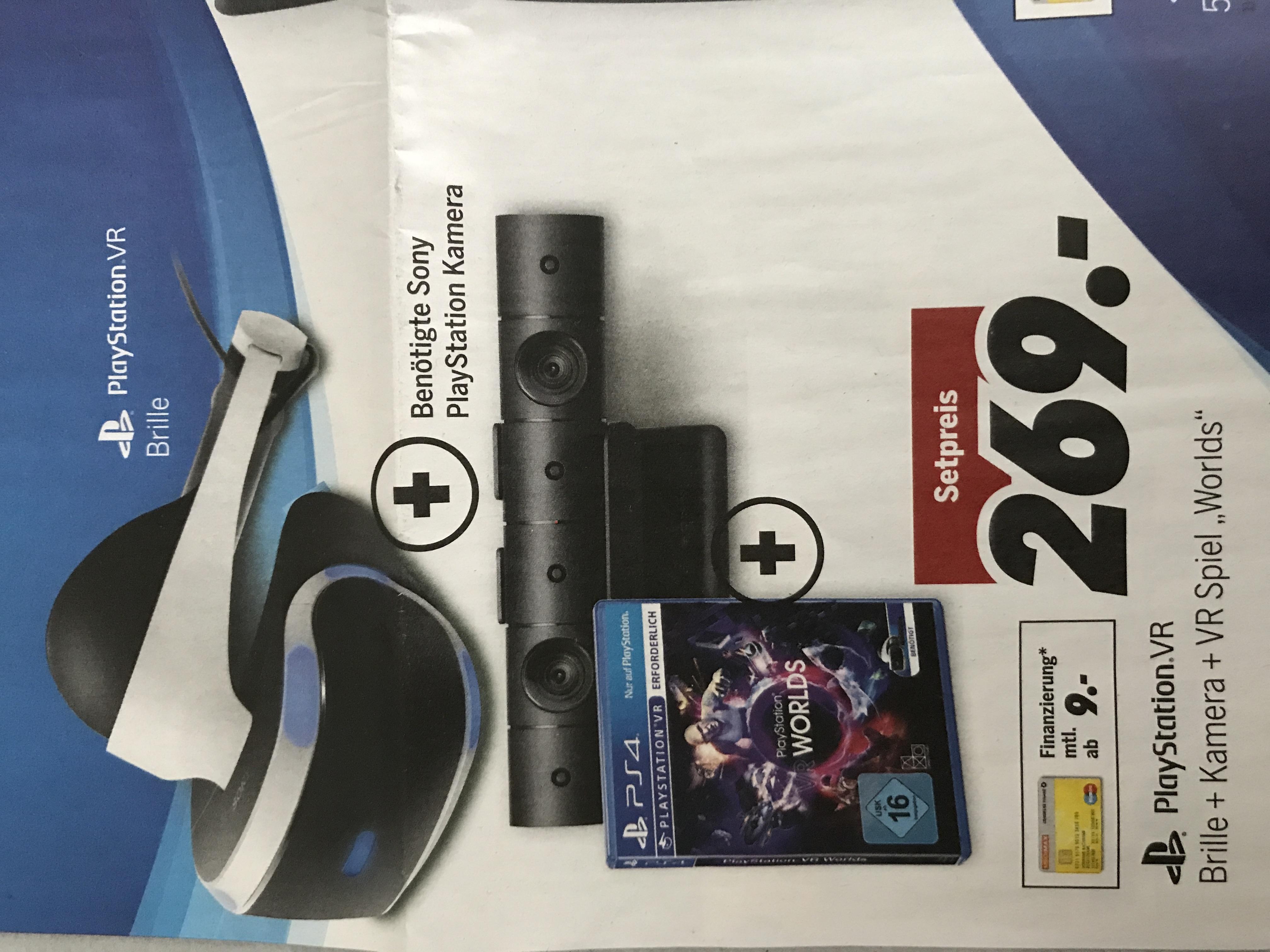 """Playstation VR + Kamera + Game """"Worlds"""" für 269€ bei Medimax Hamburg *LOKAL*"""