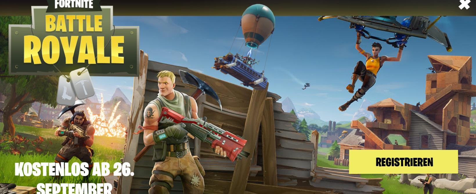 Fortnite: Battle Royale komplett kostenlos ab 26.09. [PC] [PS4] [Xbox] [Mac]