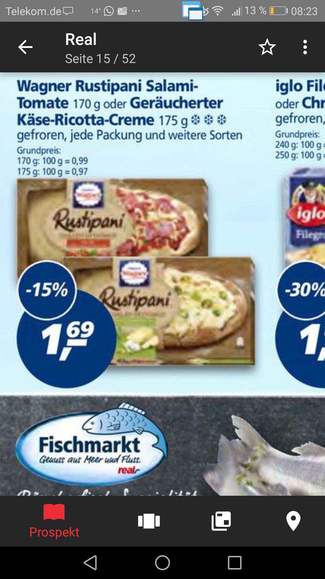[real bundesweit bis 23.09.] Wagner Rustipani für effektiv 1.19€ (Angebot plus scondoo)