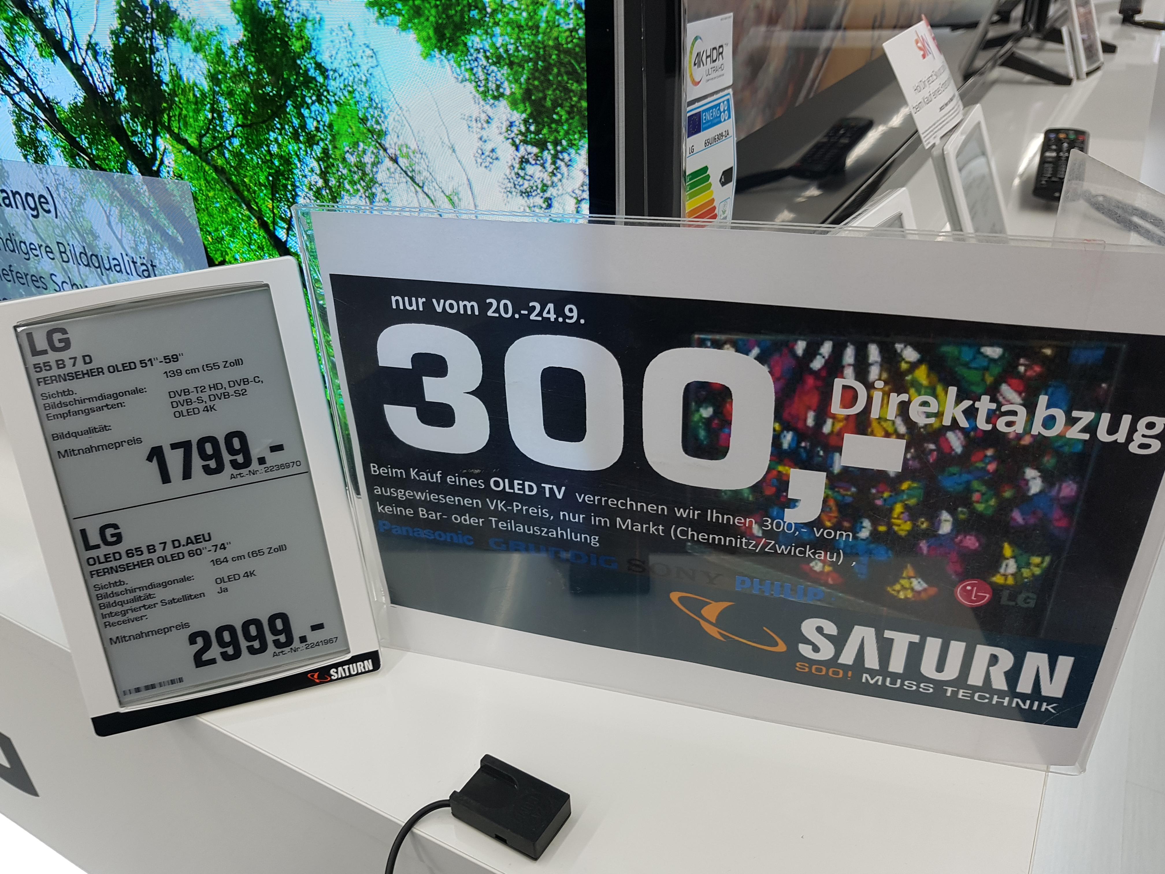 LG OLED TV 55B7D - Saturn Chemnitz & Zwickau