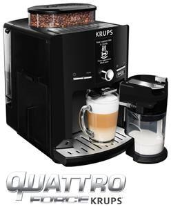 Krups EA82F8 Latt´Espress Quattro Force One-Touch-Kaffeevollautomat mit Milchbehälter, 1,7 L, 15 bar