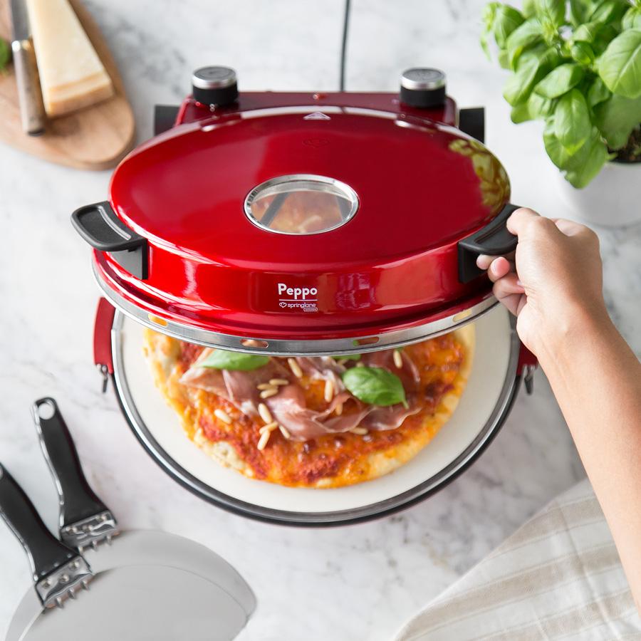Springlane Kitchen Pizzaofen Peppo in Rot und Schwarz für 74,90€ statt 99,90€ versandkostenfrei bei Springlane