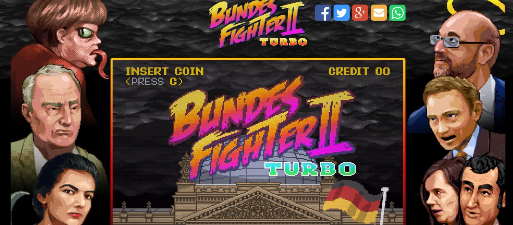"""""""Bundes Fighter II Turbo"""" - Street-Fighter-Klon zur Bundestagswahl mit den Kanzlerkandidaten - kostenlos spiel- und downloadbar [PC] [Mac]"""