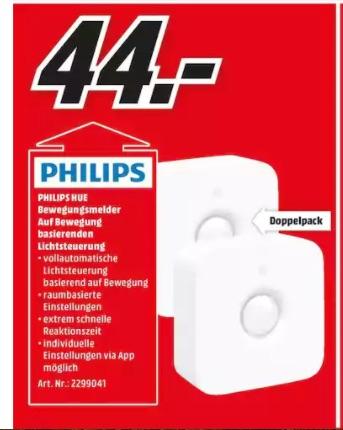 (Lokal MM Berlin) Philips Hue Motion Sensor Doppelpack