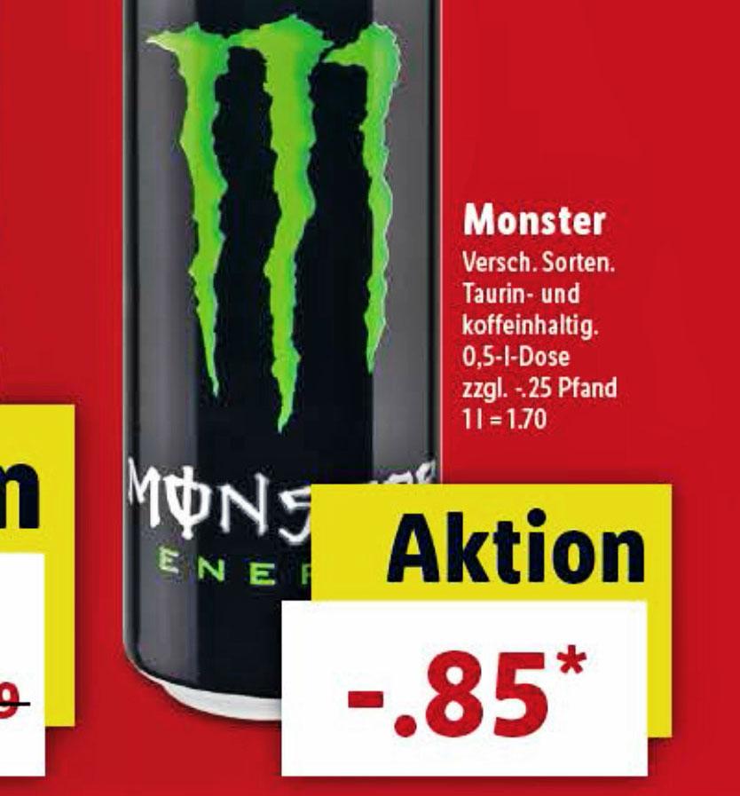 [Lidl] Monster Energy für nur 0,85€
