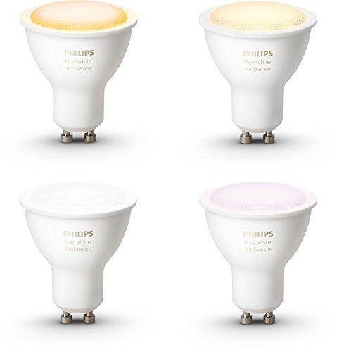 Philips Hue Beleuchtung / Sets mit Bridge und GU 10 White Ambiance