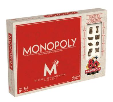 Monopoly Jubiläumsedition 80 Jahre - Vintage Look, 8 Spielfiguren aus Metall