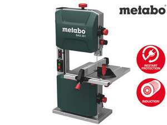 [ibood] Metabo 619008000 Bandsäge BAS 261 PRECISION   + Bandsägeblatt, Parallelanschlag, Winkelanschlag, Absaugadapter, Schiebestock (Auflagefläche: 328 x 335 mm / 400 W / 32,5 kg)