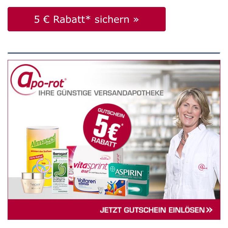 5 € Gutschein für rezeptfreie Produkte bei apo-rot »