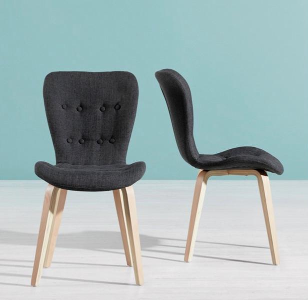 """Stuhl """"Jacque"""" in Grau oder Schwarz, versandkostenfrei"""