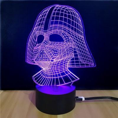 Star Wars Darth Vader 3D Lampe oder Todesstern 3D Lampe für je 5,02€ (Gearbest)