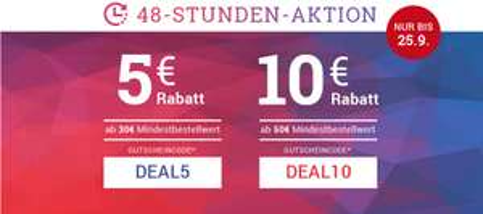 Medimops 48h Gutscheinaktion 5€ ab 30€ & 10€ ab 50€