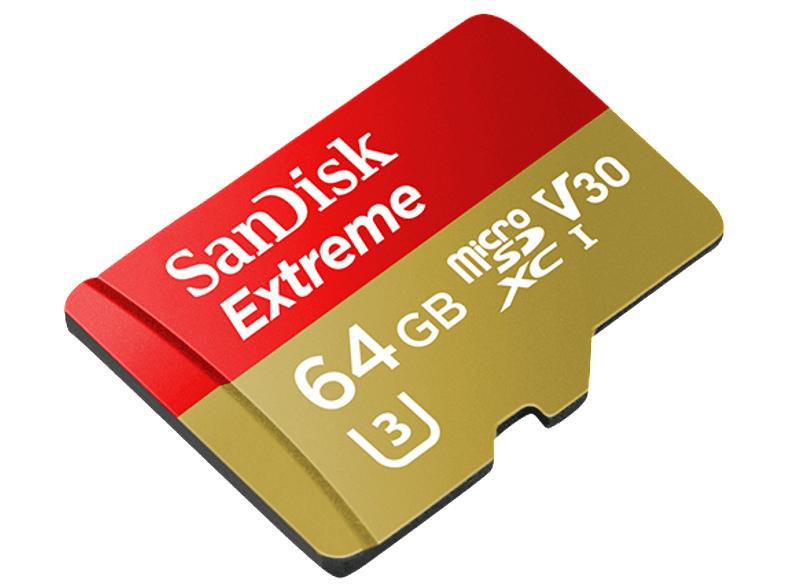 [Mediamarkt] SanDisk Extreme microSDXC 64 GB Class 10 U3 V30 90 MB/s mit SD-Adapter für 29,-€ Versandkostenfrei