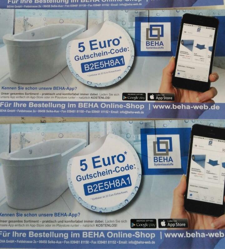 [Baustoffe & Co] 5 € Rabatt auf alles MBW 20 €