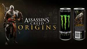 Assassins Creed: Origin In-Game Freebies beim Kauf von Monster Energy Drinks ab 01.10.