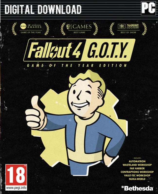 Fallout 4: GOTY-Edition (Spiel + Season Pass) für 19,30€ [CDKeys]