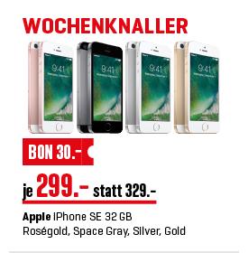 [interdiscount.ch] Apple iPhone SE 32GB 299 CHF(258€) in 4 Farben verfügbar