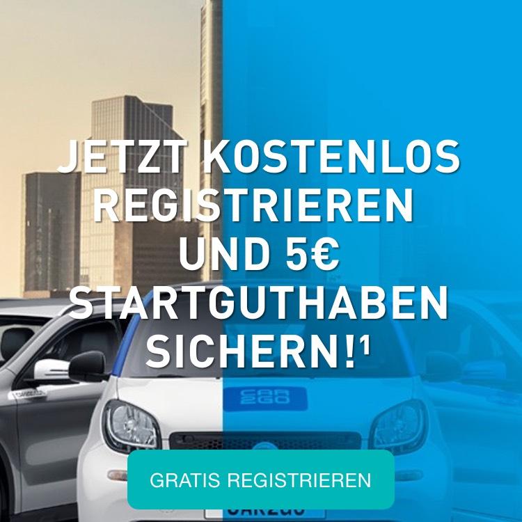 5€ bei CAR2GOS bei Registrierung