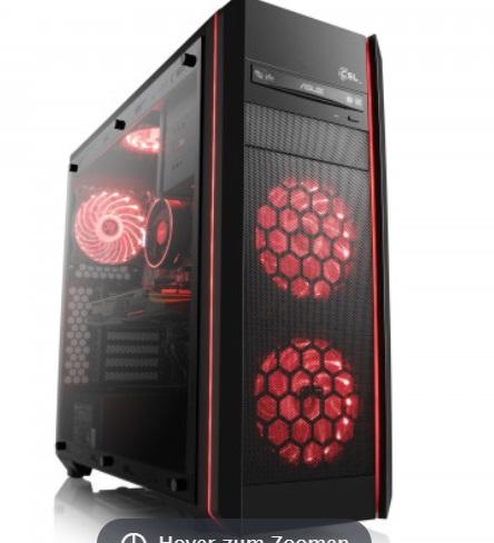 Gaming-PC (konfigurierbar) auf Ryzen-Basis (AMD Ryzen 1600, 16GB RAM, 256GB SSD, Geforce 1070, Asus B350 Mainboard, be quiet! Pure Power 10 500W) + Quake Champions + AC: Origins jetzt für 974€ [CSL] *Update*