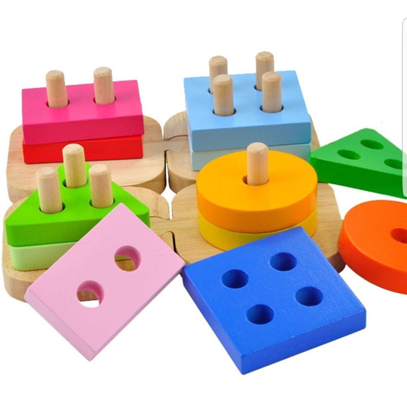 Steckspiel Holzspielzeug für Kinder 50% Rabatt