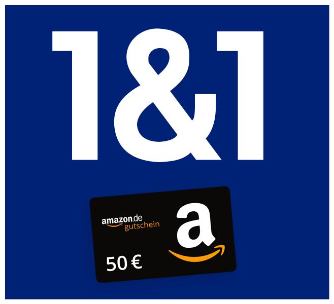 50€ Amazon-Cashback auf 1&1 DSL-Tarife (16, 50 & 100) – inkl. Telefon-Flat | 100€ Wechselbonus möglich