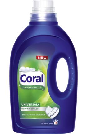 DM Ausverkauf online Coral Vollwaschmittel Flüssig Universal+, 18 Wl 1,75 Statt 3,45 €