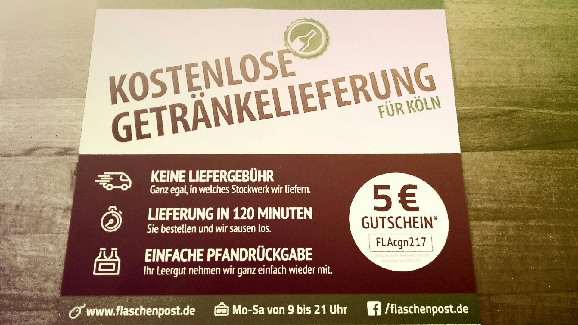 [Köln lokal] Gutschein Flaschenpost