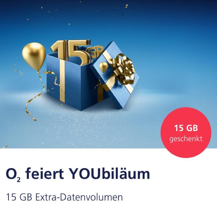 O2 - 15 GB Datenvolumen kostenlos