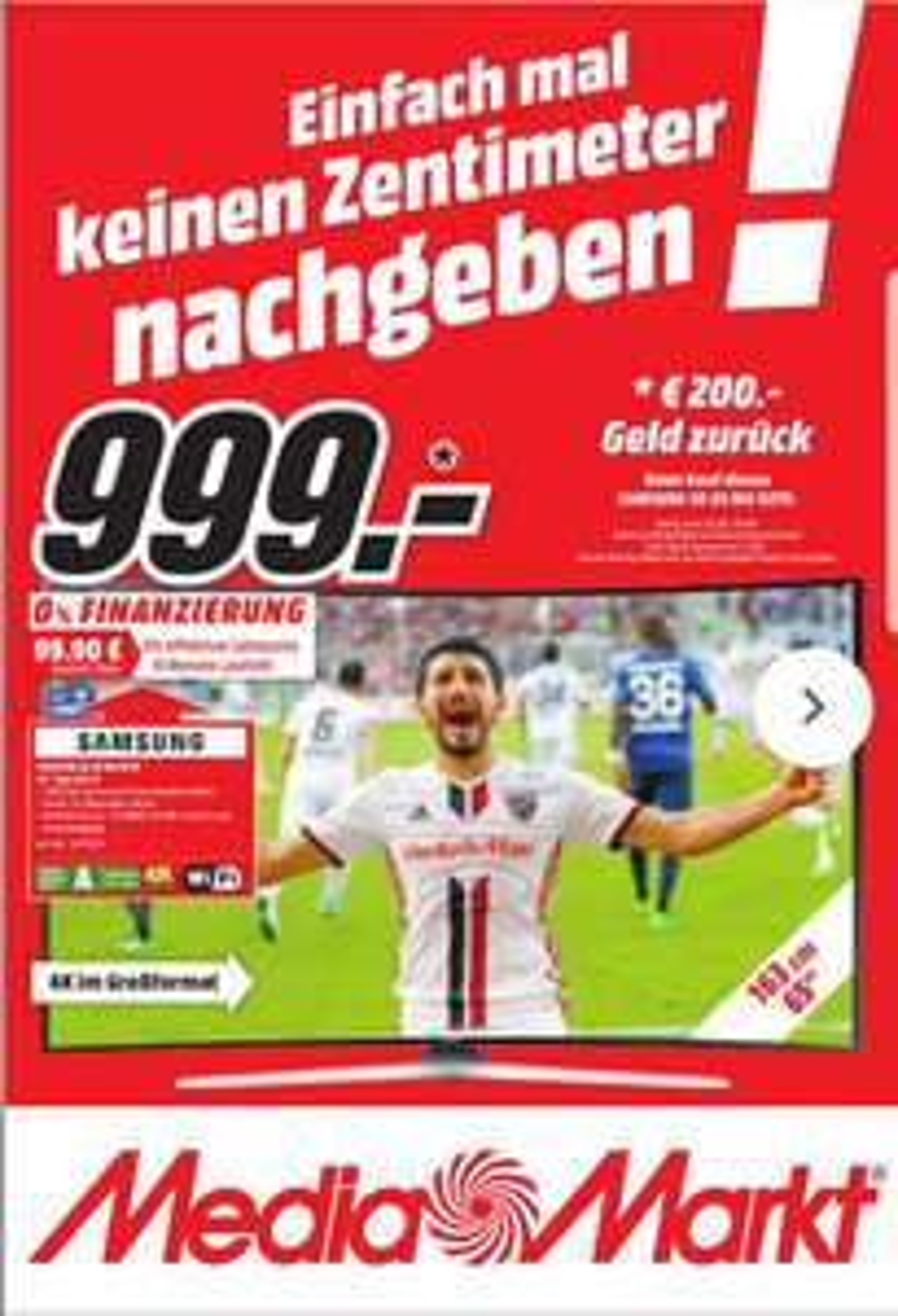[Lokal MM Marburg] Samsung UE 65 MU 6279 (65 Zoll, 138cm) für 999 Euro 4k UHD Smart TV