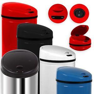 eBay WoW Angebot Automatik Sensor 50L Mülleimer Abfalleimer EDELSTAHL Papierkorb NEU