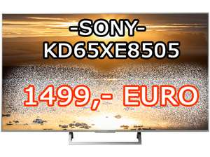 SONY KD65XE8505 LED TV (Flat, 65 Zoll, UHD 4K, SMART TV, Android TV) NUR LOKAL !!!