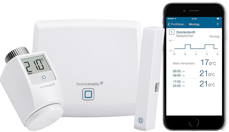 Homematic IP Starter-Set Cashback-Aktion (20€) bei ausgesuchten Händlern, bspw. Starter-Set ab 73,45 € (Raumklima) mit 5,55€ Newslettergutschein