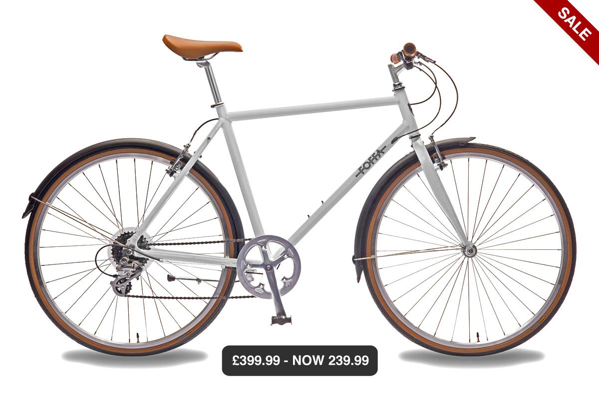 Foffa Bikes sale teilweise 40% reduziert z.B. FOFFA LIGHT GREY DANDY HYBRID BICYCLE für 273€