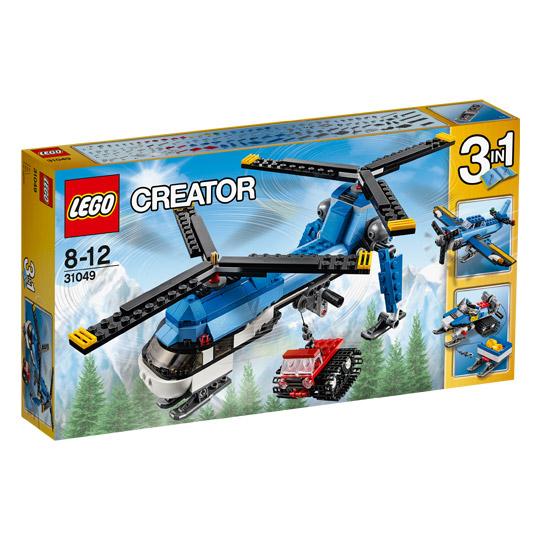 Lego Creator Doppelrotor-Hubschrauber  und andere bei Real