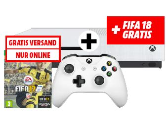 XBox One S 1TB + FIFA 17 + FIFA 18 für 249€ (MediaMarkt.at)