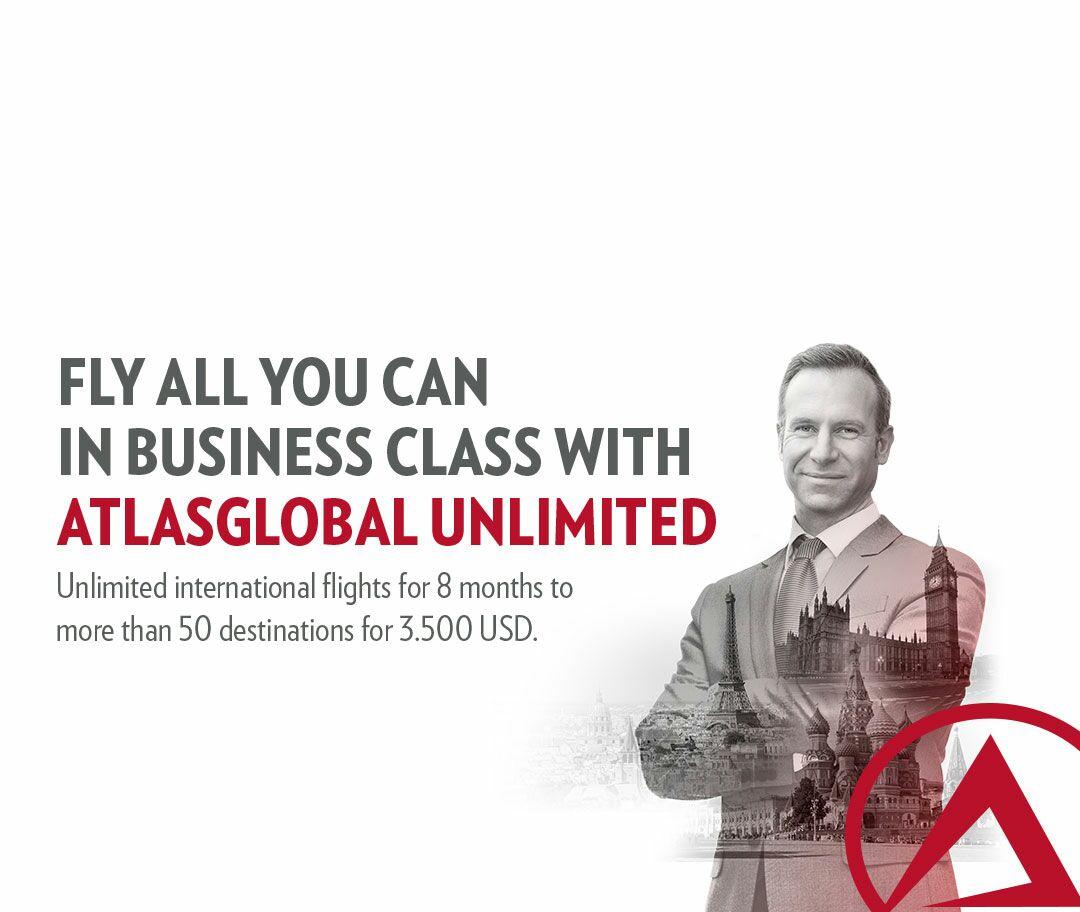 Atlasglobal Reise Flatrate in Business Tarif für 8 Monate 3500USD