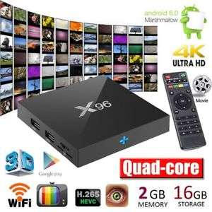 X96 Android 6.0 4K S905X 2G+16GB Quad Core Smart 3D TV Box für EUR 29,99
