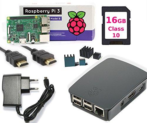[Amazon Primedeal] Raspberry Pi 3 B3 Starter Kit (PI3, Netzteil, HDMI Kabel, Gehäuse, Kühler und Speicherkarte)