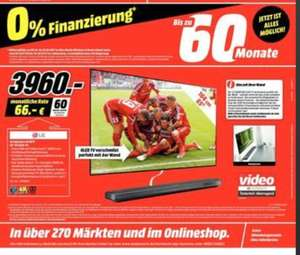 [Mediamarkt ab 04.10]LG Signature OLED 65W7V Wallpaper-TV, 65 Zoll, OLED 4K, SMART TV, webOS 3.5 für 3960,-€