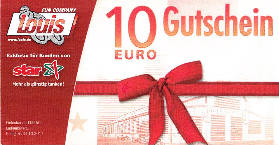 3 x 10 Euro Gutschein für Tante Louis (MBW 50 Euro)