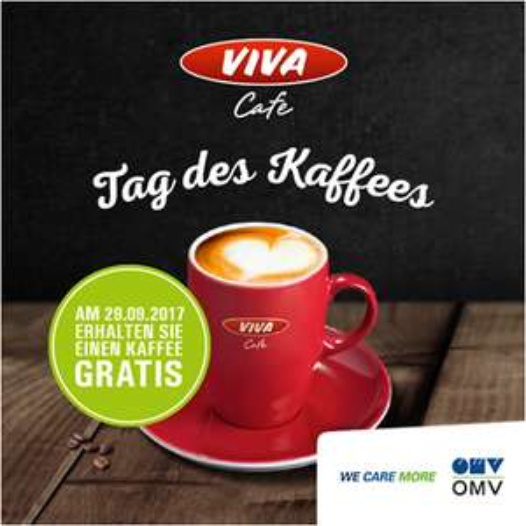 Gratis Kaffee an allen OMV Tankstellen am 29.09.2017 und 12.12.2017