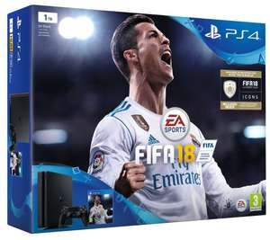 PS4 Slim 1TB + Fifa 18 + 2. Dualshock 4 Controller für 266,28€ [Amazon.co.uk]